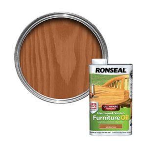 Ronseal Ultimate Natural Teak Hardwood Garden Furniture Oil 1l Hardwood Garden Furniture Painted Garden Furniture Teak Furniture