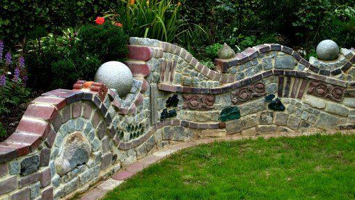 Meine Homepage Unser Garten Steinmauer Garten Garten Gartenmauern