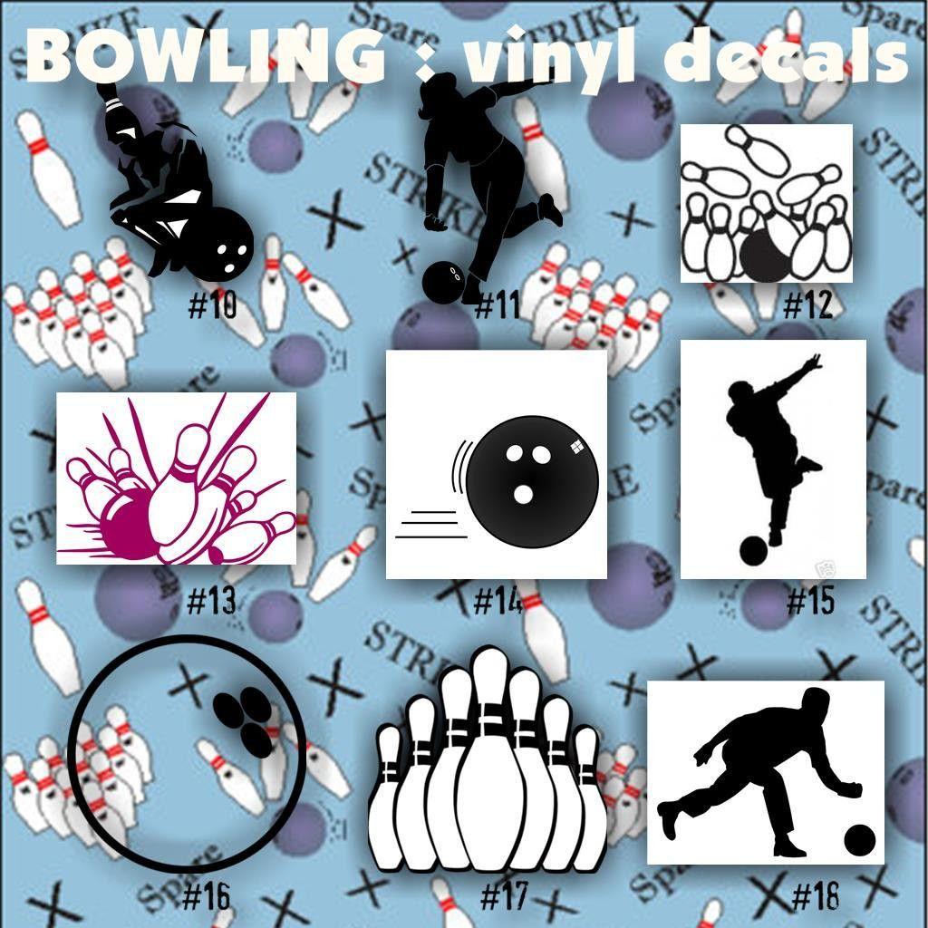 BOWLING Vinyl Decals Car Window Stickers Team Sports - Custom vinyl decals car windows