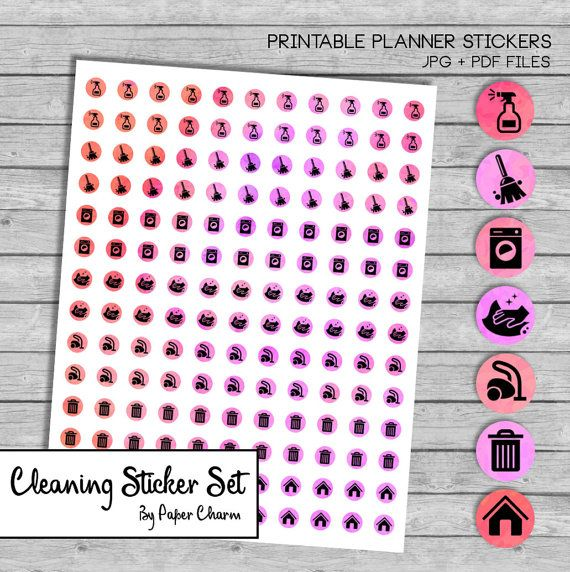 Cleaning Icon Planner Stickers Printable, Pink Watercolor Icon Stickers Printable, Erin Condren Printable Cleaning Icon Stickers Kit Kikki K #ErinCondren #LifePlannerIcons #PlannerIconStickers #PlannerCleaningIcons #CleaningStickers #PlannerStickersPrintable #PrintableCleaningStickers #MAMBIHappyPlanner #MAMBIStickers #KikkiK #FilofaxPrintables