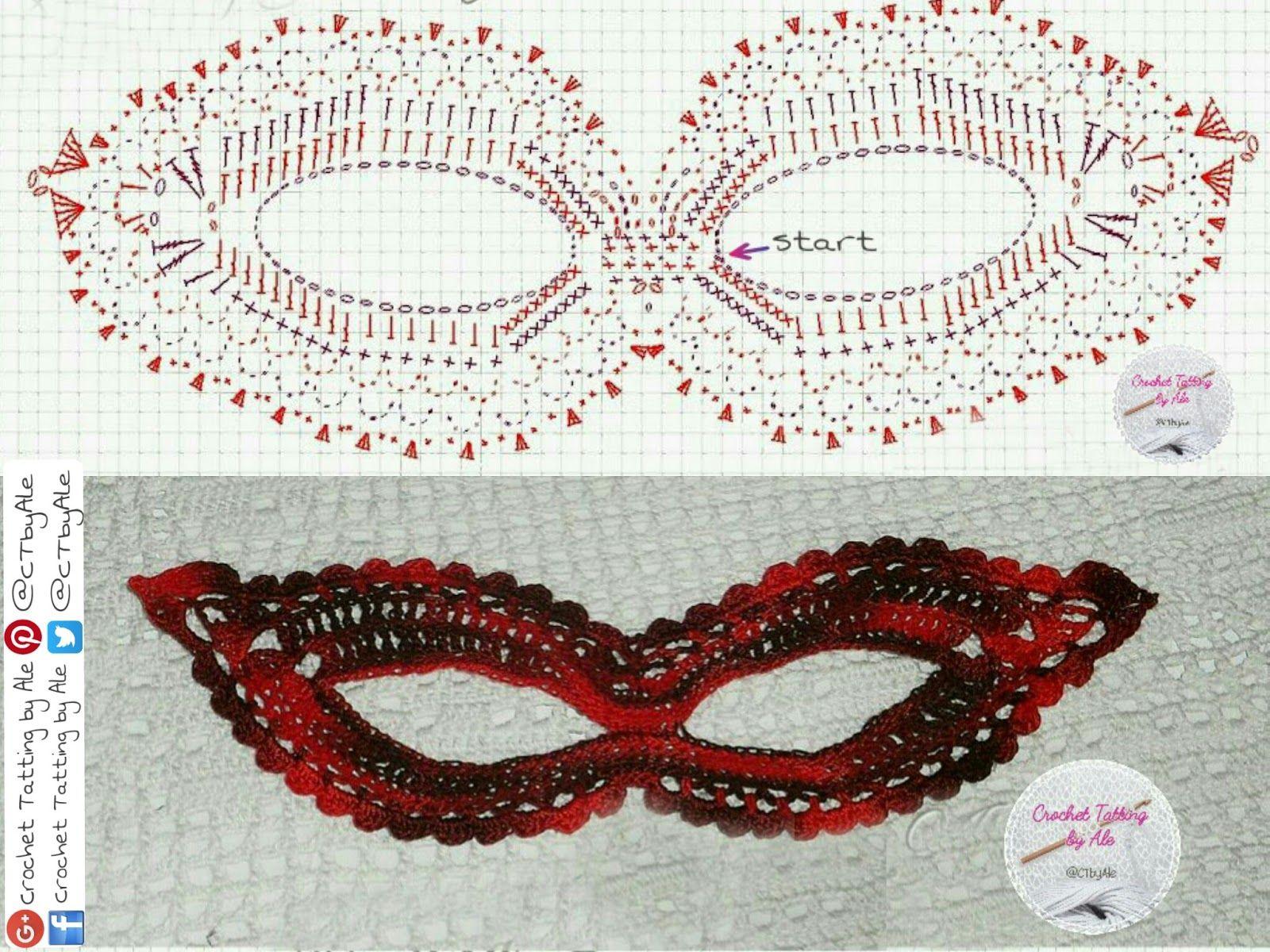 Fantástico Crochet Patrón De Máscara De Esquí Libre Bosquejo - Coser ...