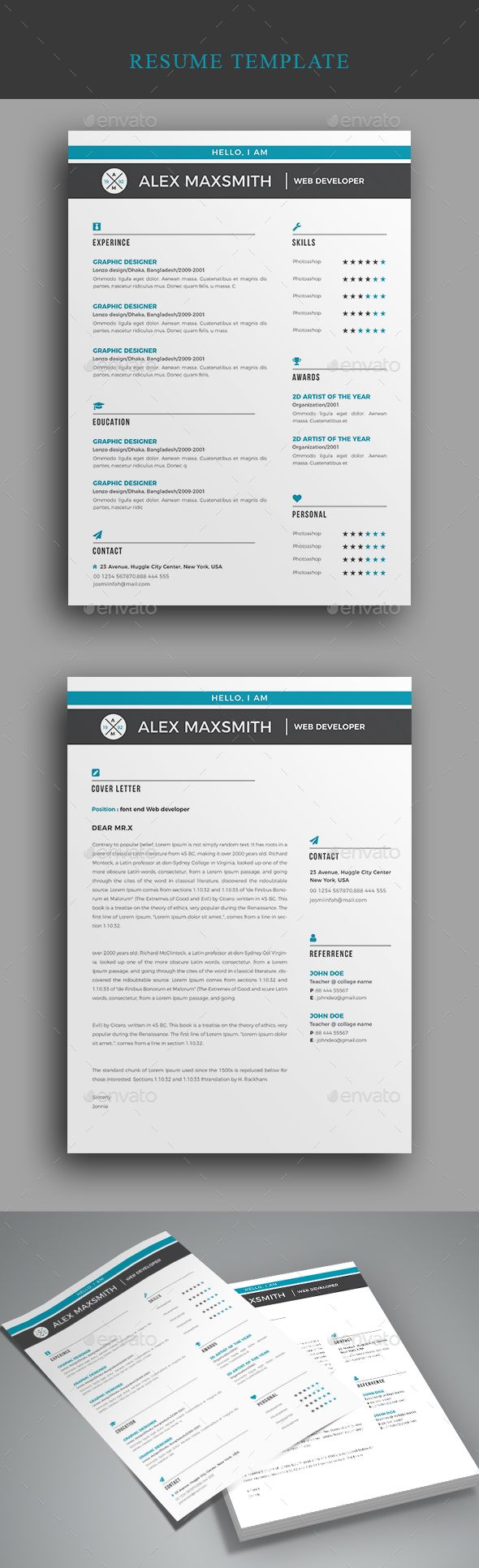 Resume Resumes Stationery Download here httpsgraphicrivernetitem