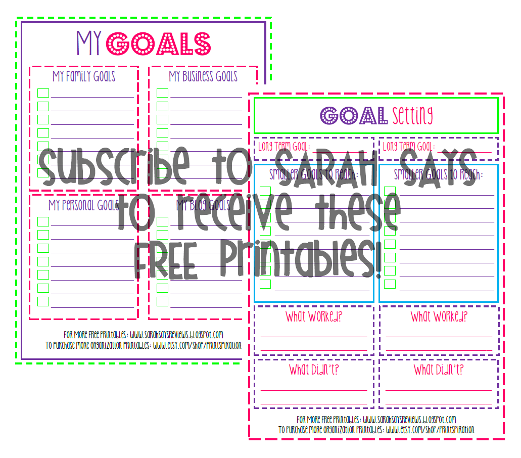 Free Printable Goal Setting Worksheets