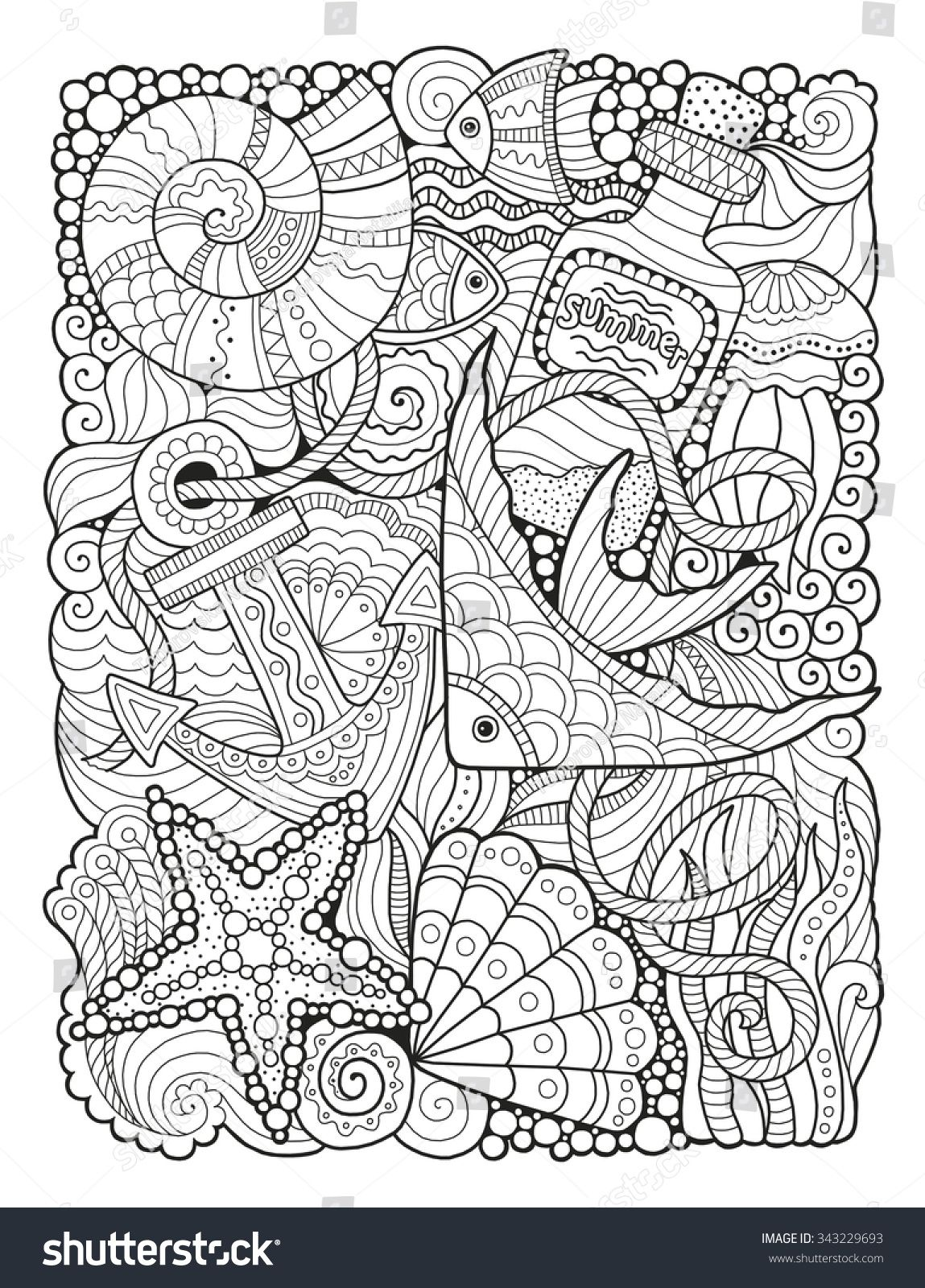 Coloriage Difficile Paques.Coloring Book For Adult Summers Sea Coloriage Animaux Pinterest
