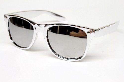 ed712e926fd7 s Nerd Vintage Wayfarer Retro Chrome Sunglasses Mens Womens W44 ...