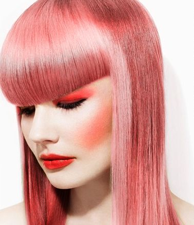 Pink hair & pink makeup! Hair Styles Cheveux, Cheveux