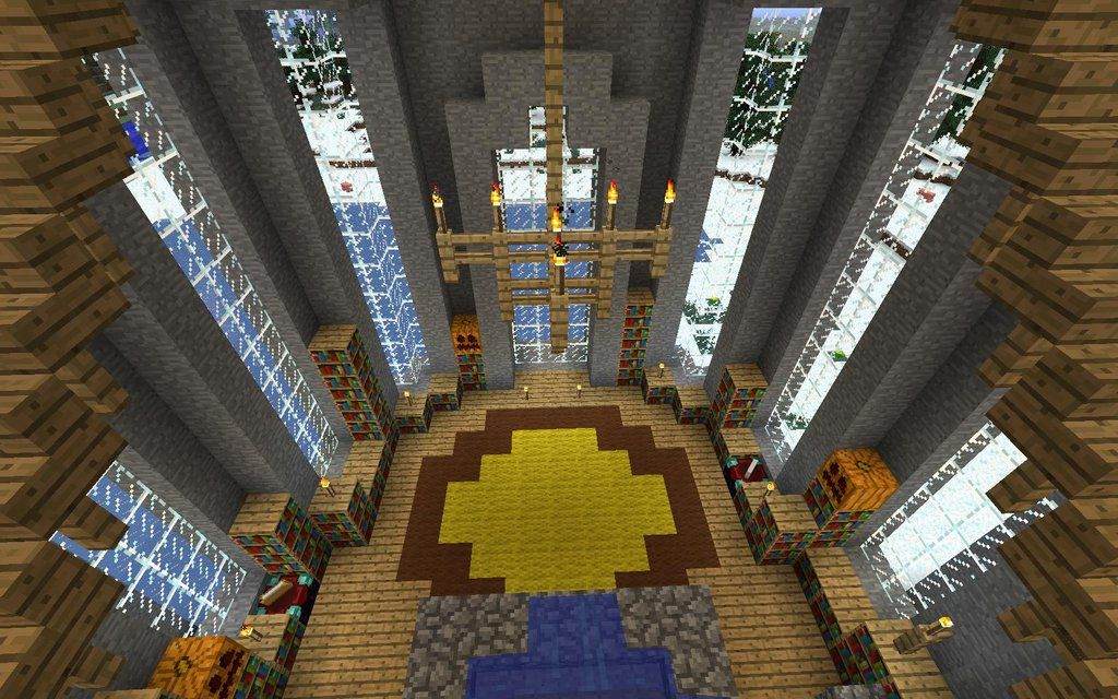 minecraft castle interior decorating ideas | http