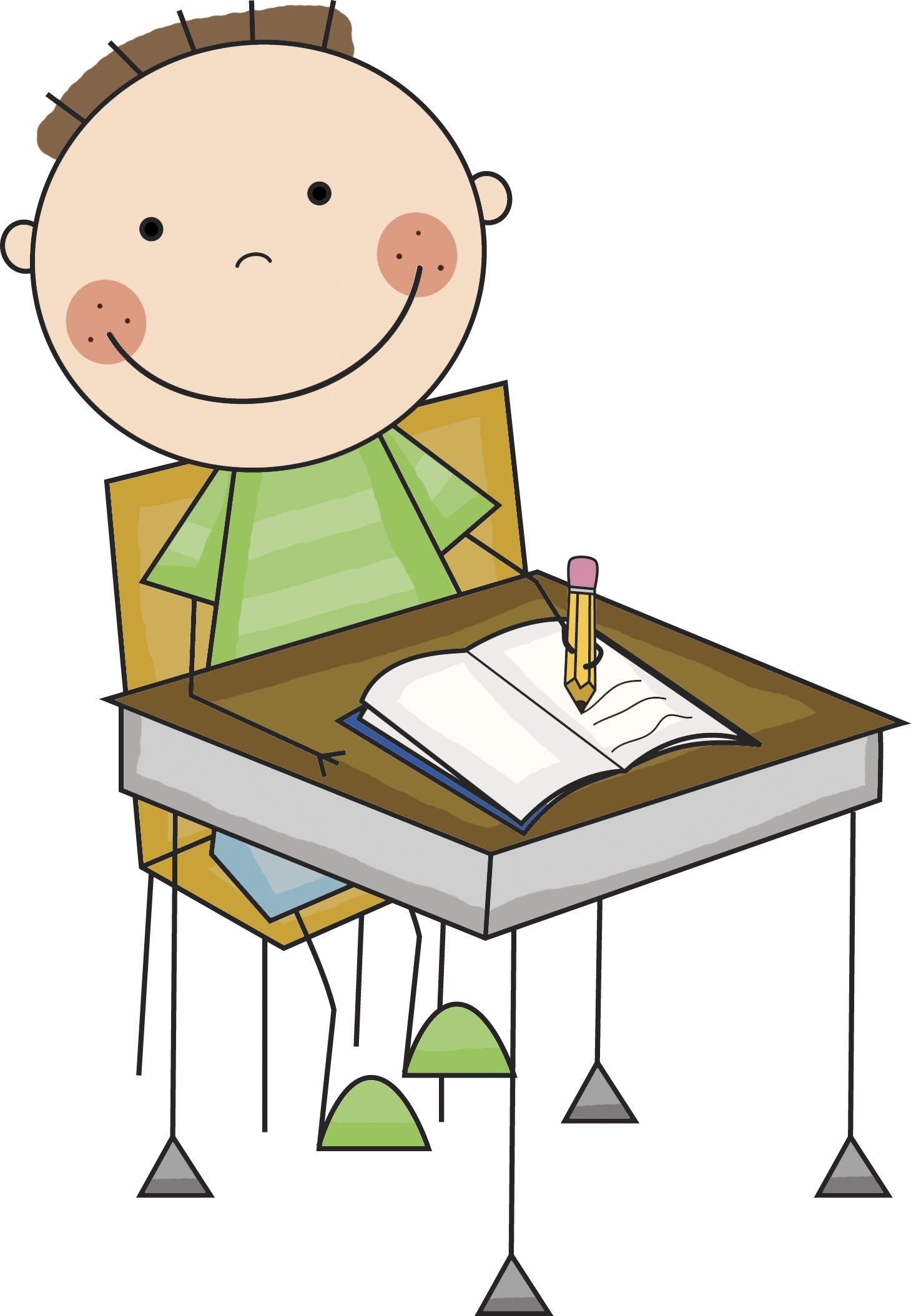 student working at desk 647355 jpg 1459 2108 behavior rules rh pinterest ca  student writing clipart black and white