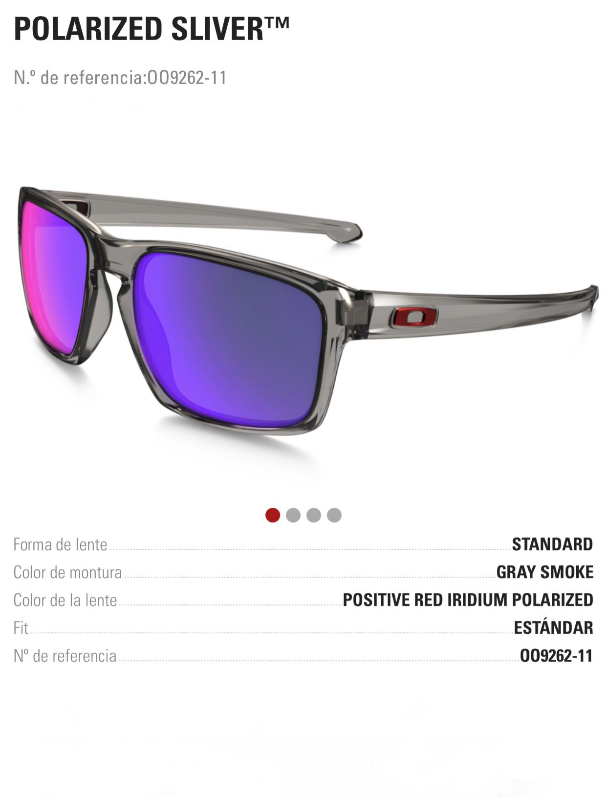 70851aaaaa917 Oakley Sliver Positive Red Iridium Polarized. Find this Pin and more on Gafas  de sol ...