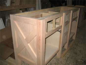Cross Brace On Kitchen Island Idea For Cabinet Doors
