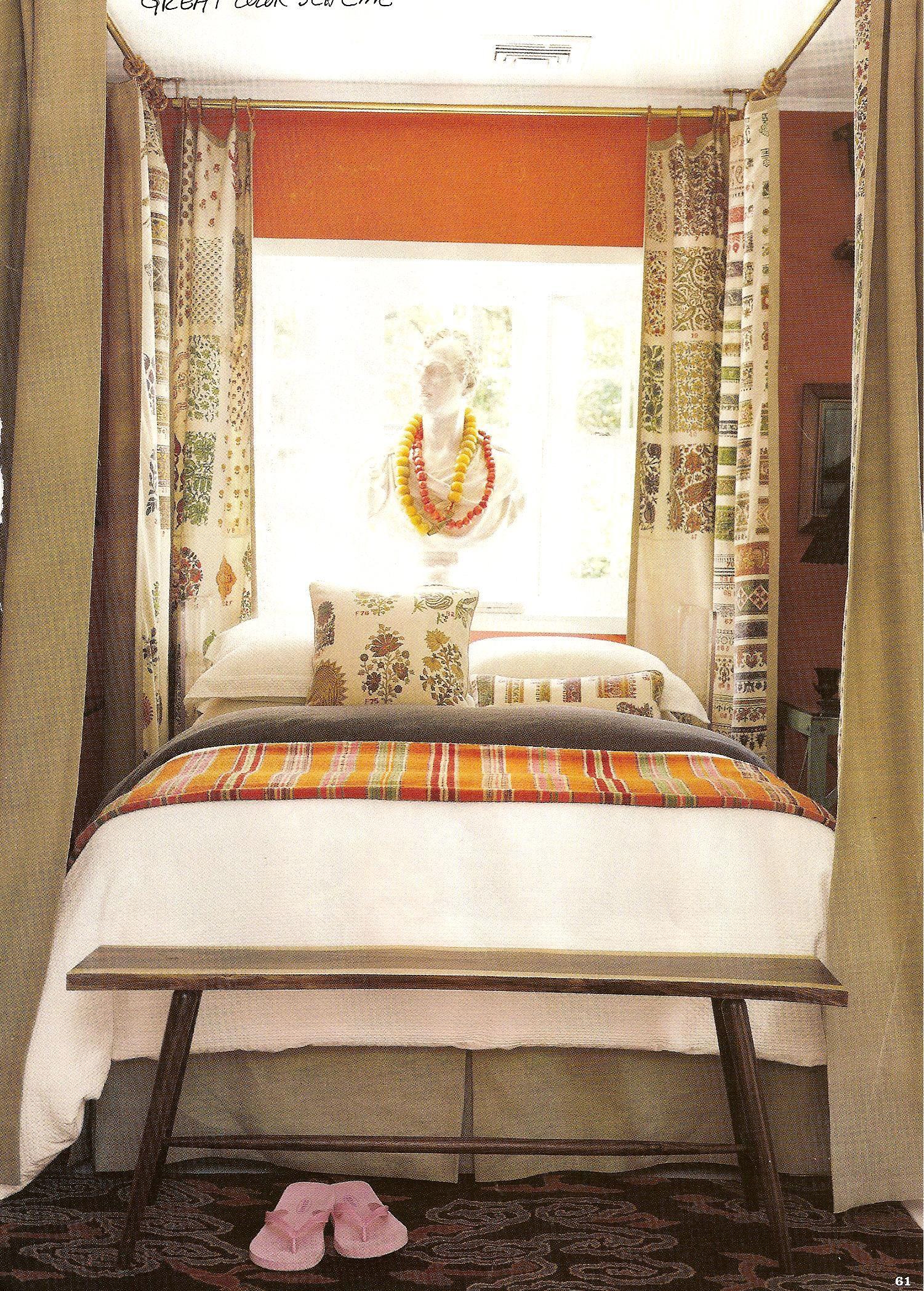 bedroom   Curtains around bed, Home, Bedroom orange