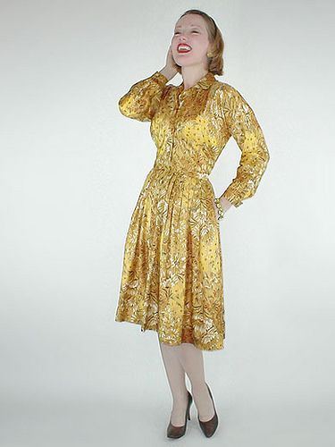 50s silk dress by Claire McCardell, from my sold archives