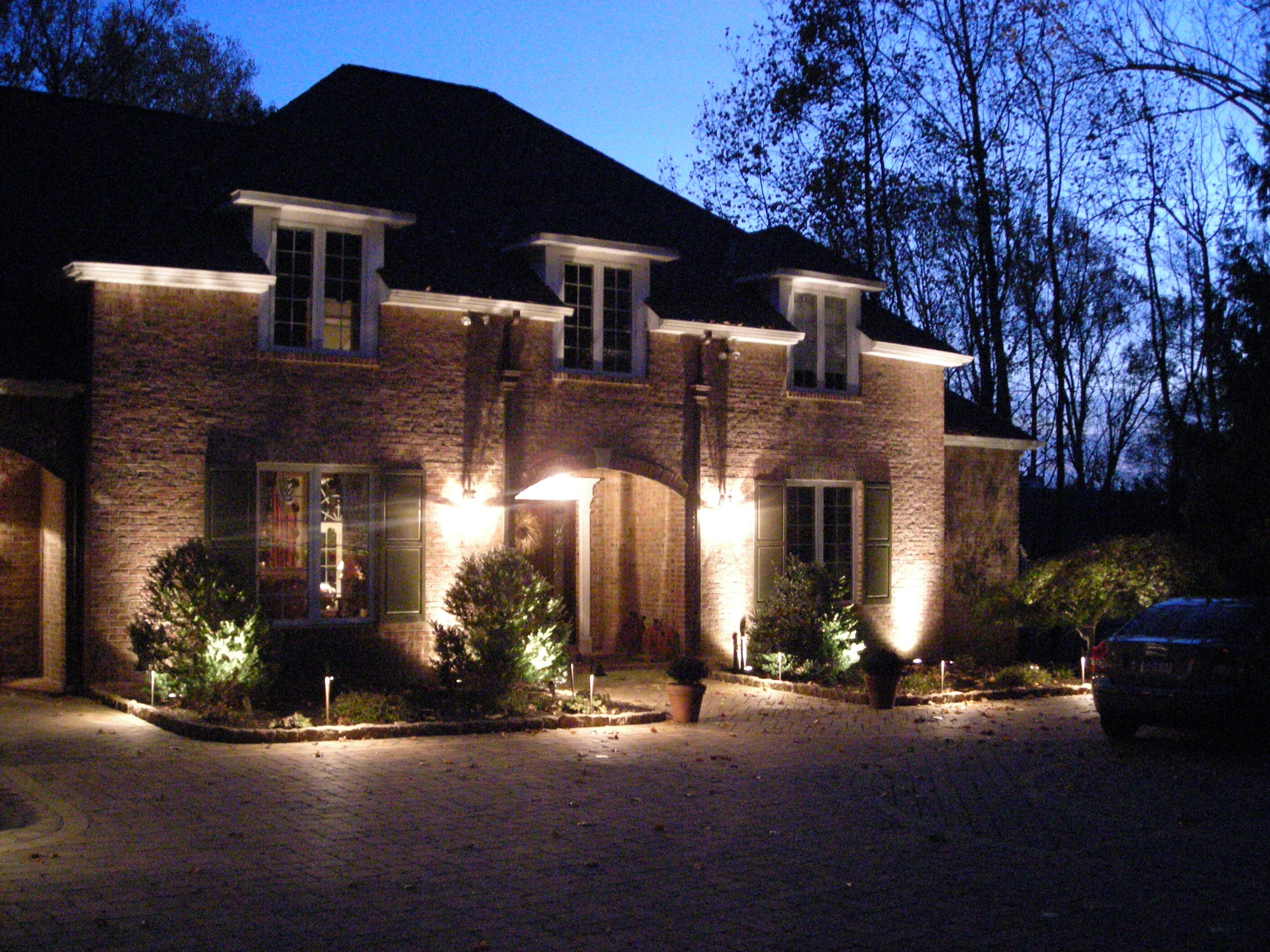 exterior house lighting design. Convenient Front Yard Lighting  for Convenience and