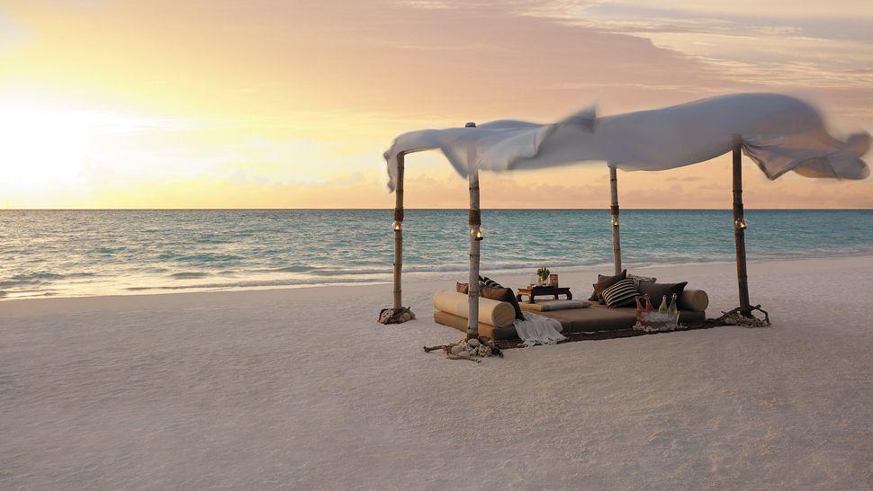 Beach Picnic in Maldives