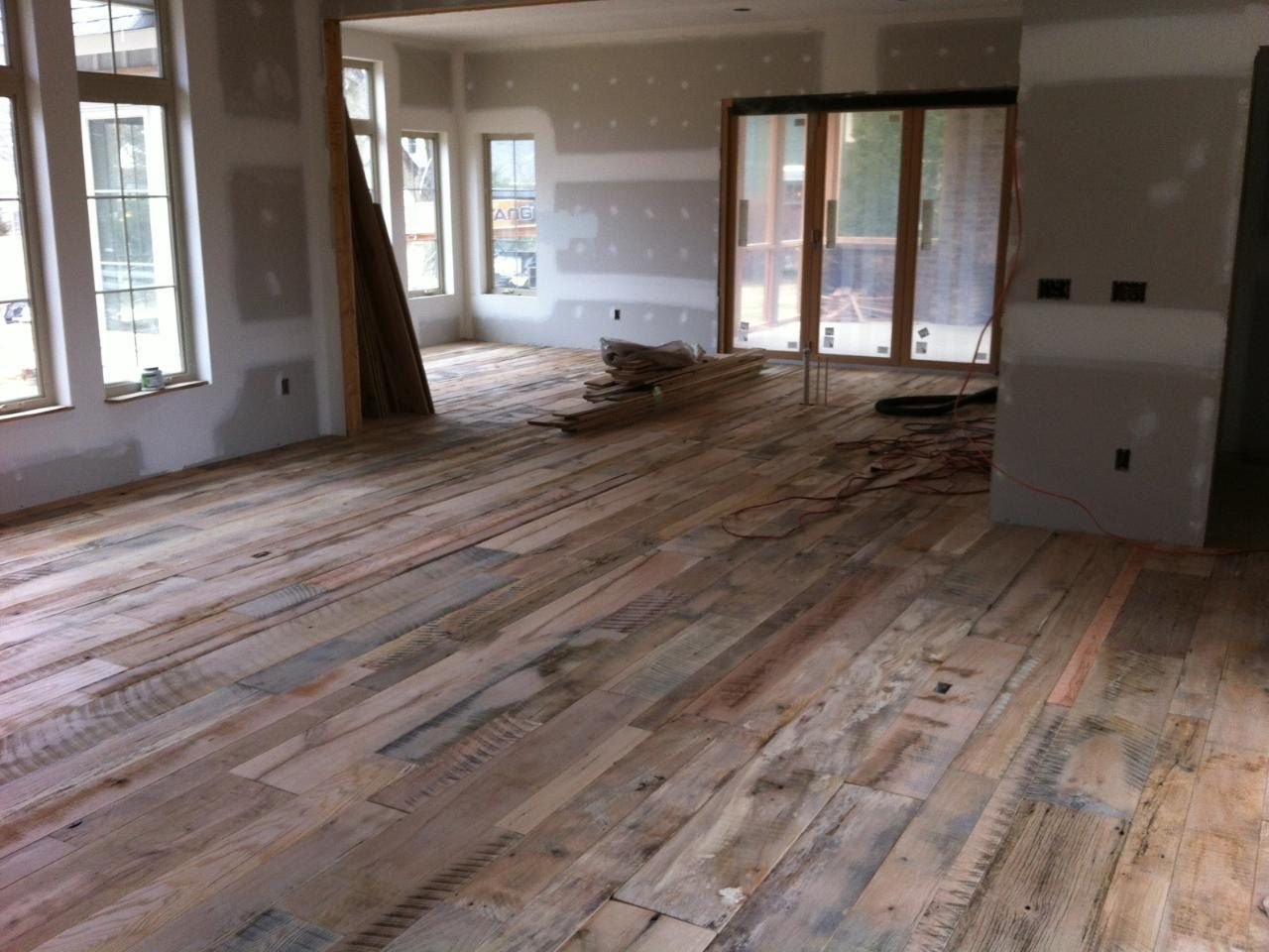 Authentic Pine Floors: Reclaimed Wood Compliments any ...   Recycled Wood Flooring Ideas