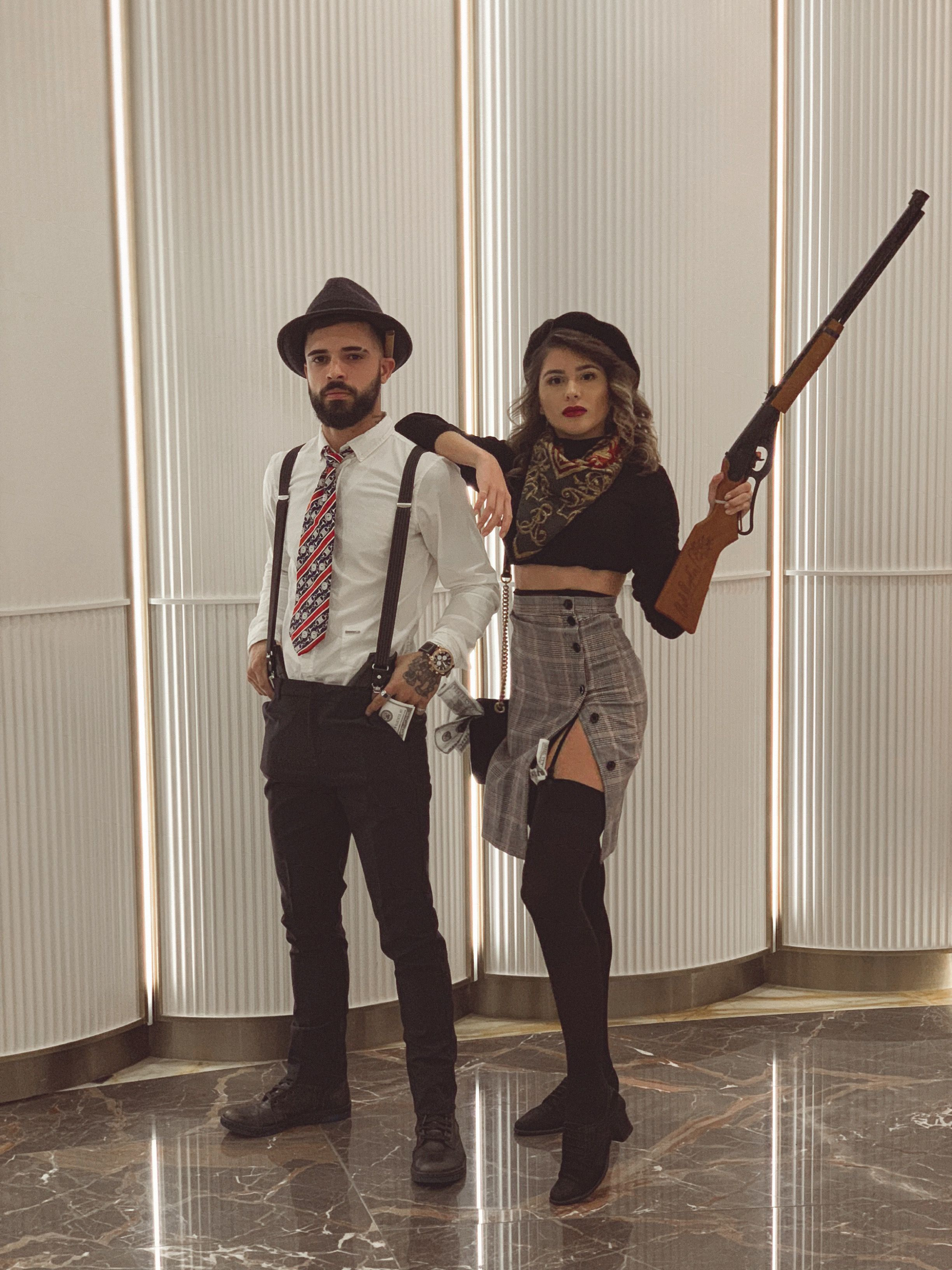 Bonnie And Clyde Costume : bonnie, clyde, costume, Bonnie, Clyde, Couple's, Halloween, Costume, Boyfriend, Girlfriend, Costume,, Couple, Costumes,