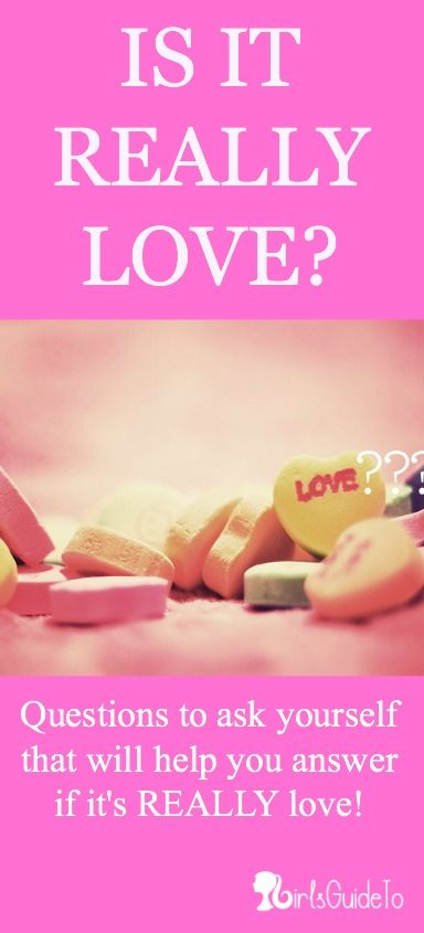 Is It Really Love? Great article if this is a question you find yourself asking...