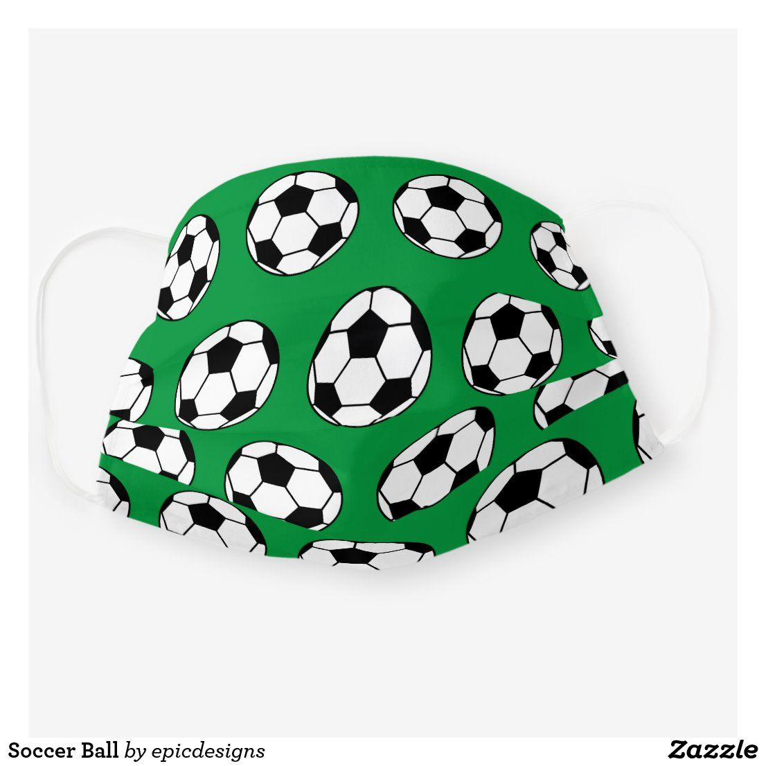 Soccer Ball Cloth Face Mask Zazzle Com In 2020 Soccer Ball Soccer Ball Gift Soccer