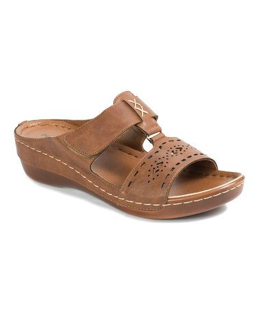 Another great find on #zulily! Whiskey Cutout Clary Sandal #zulilyfinds