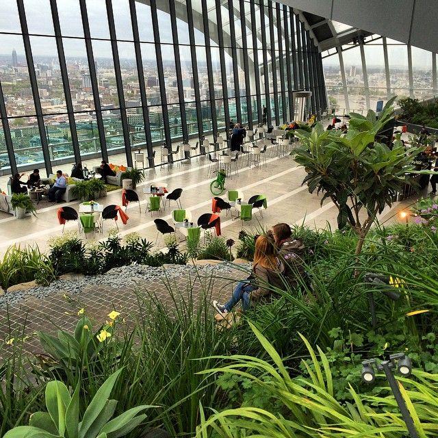The Rooftop Garden Of The Walkie Talkie Building In London Uk Sky Garden London Places Visit London