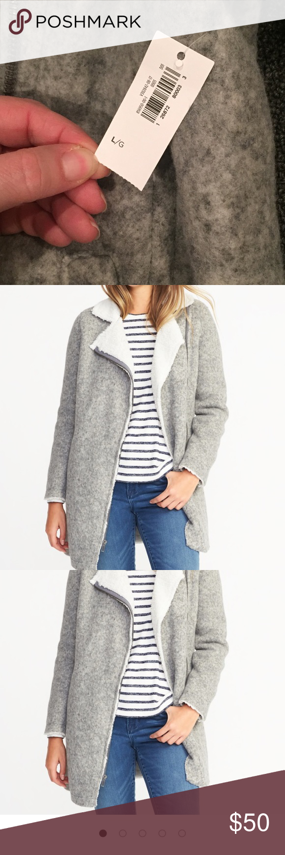 NWT Old Navy Sherpa Lined Moto Jacket Large NWT Clothes