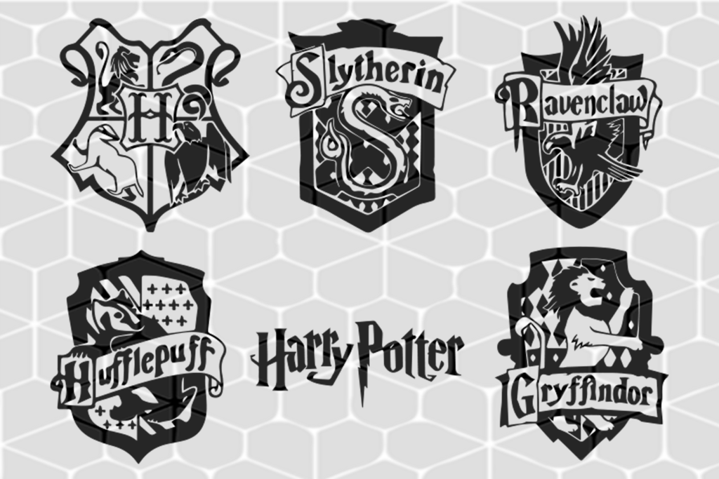 Harry Potter Hogwarts Houses Svg Files For Silhouette Files For Cricut Svg Dxf Eps Png Harry Potter Silhouette Harry Potter Hogwarts Houses Harry Potter Crafts