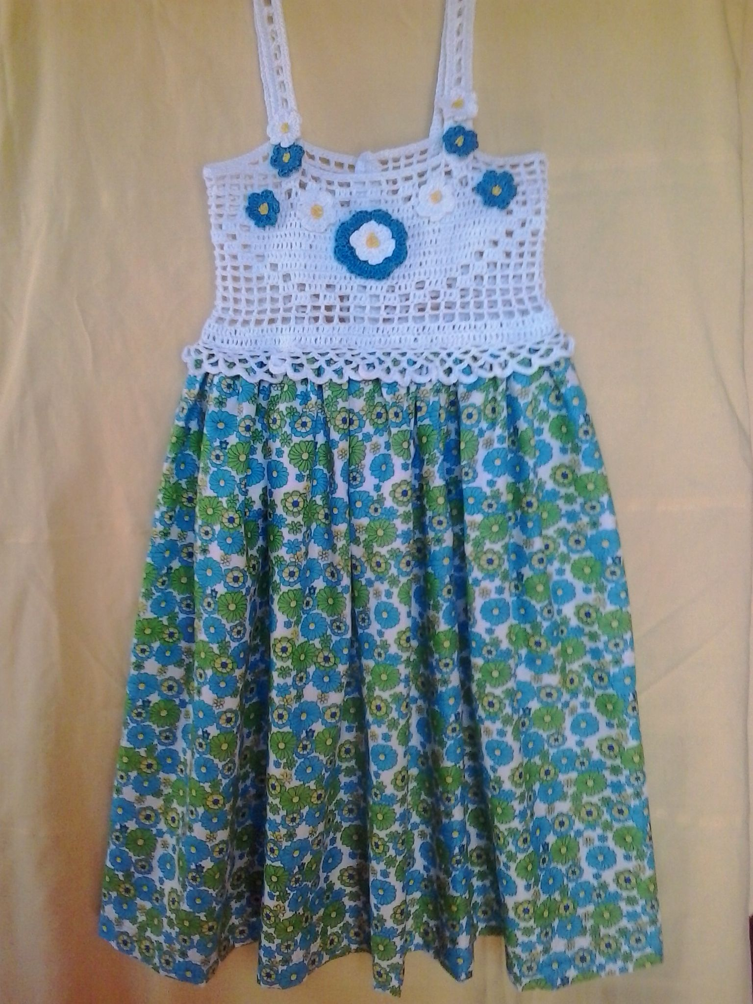 vestido de ni a con canesu de crochet bebes summer dresses dresses y crochet. Black Bedroom Furniture Sets. Home Design Ideas