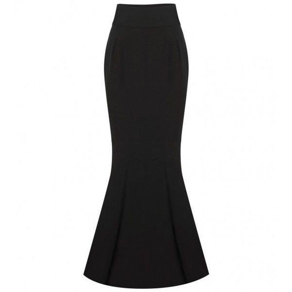Alexandre Vauthier Long Black Skirt (8.615 BRL) ❤ liked on Polyvore featuring skirts, flare skirt, alexandre vauthier, flared skirt, long skirts and black skirt