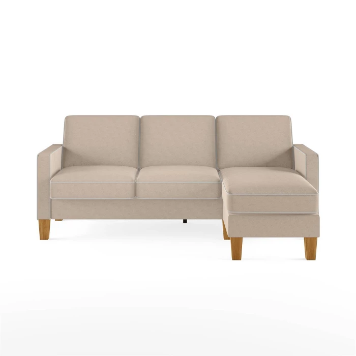 Bowen Sectional Sofa With Contrast Welting Novogratz Target