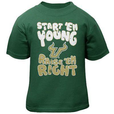 South Florida Bulls Infant Start 'Em Young T-Shirt - Green