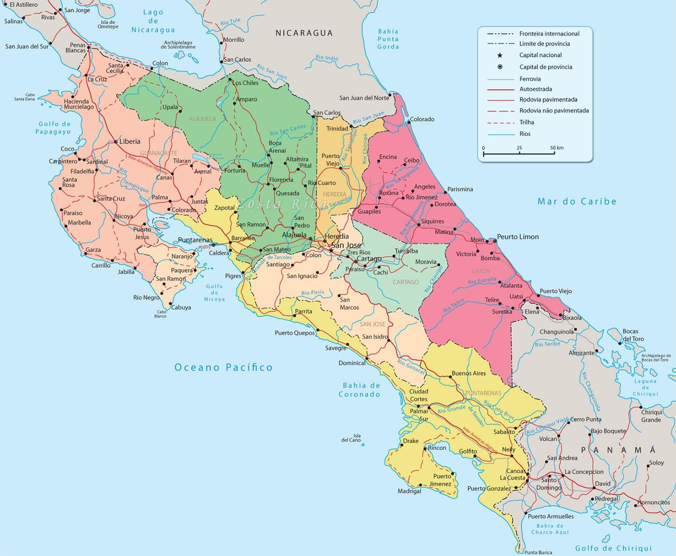 costa rica mapa Es la costa rica mapa. No te pierda ! | Costa Rica para turistas  costa rica mapa