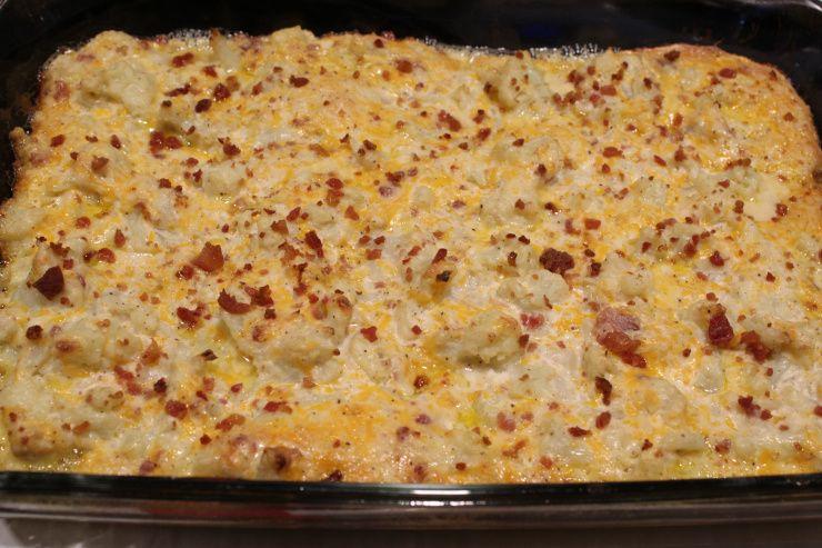 Loaded Cauliflower Bake – Life On The Ridge #loadedcauliflowerbake
