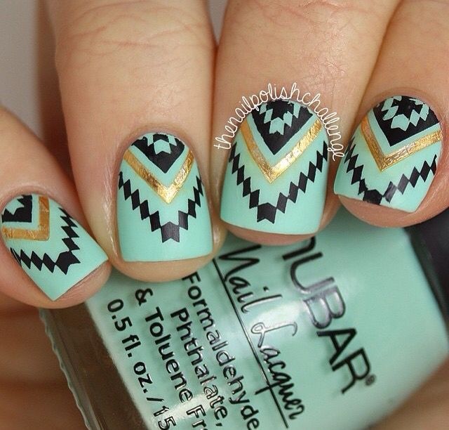 I really like the pattern | Uñas | Pinterest | Diseños de uñas, Uñas ...