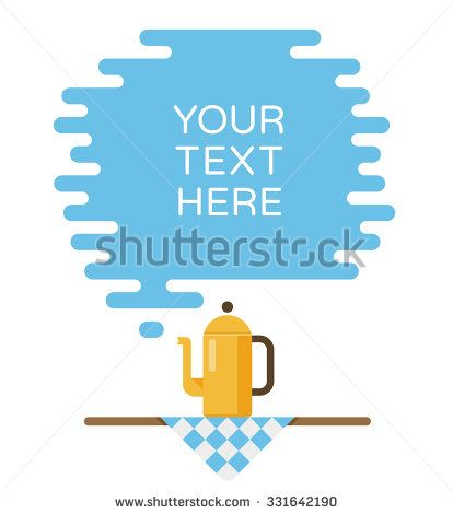Banner for recipes, menus or other content. Cloud of steam and teapot - stock vector