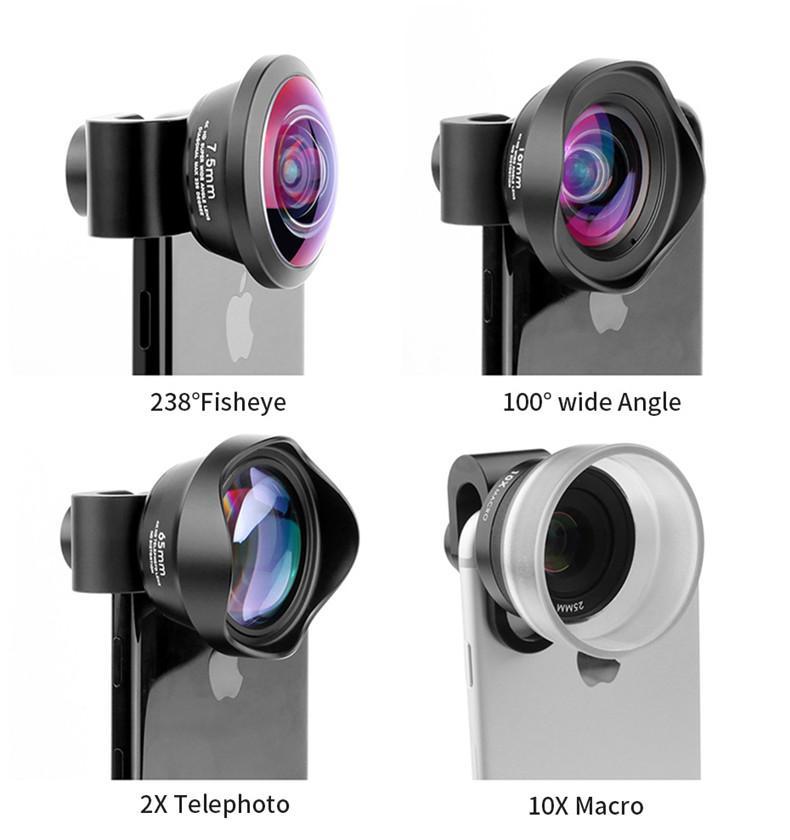 HD Moments (4 in 1 Lens Set) Macro, Wide Angle, Fisheye