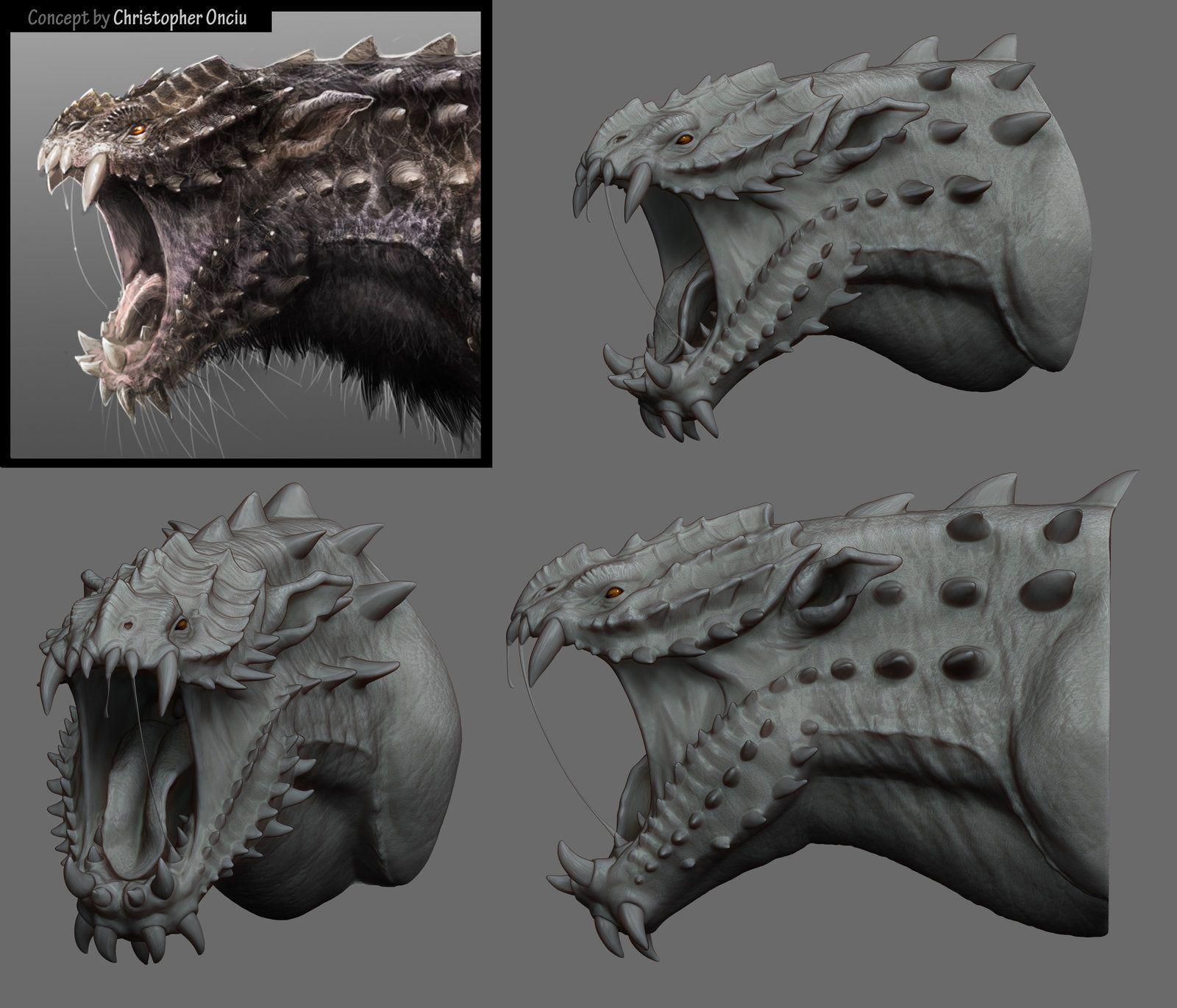Creature Head, Iris Yurtsev on ArtStation at https//www