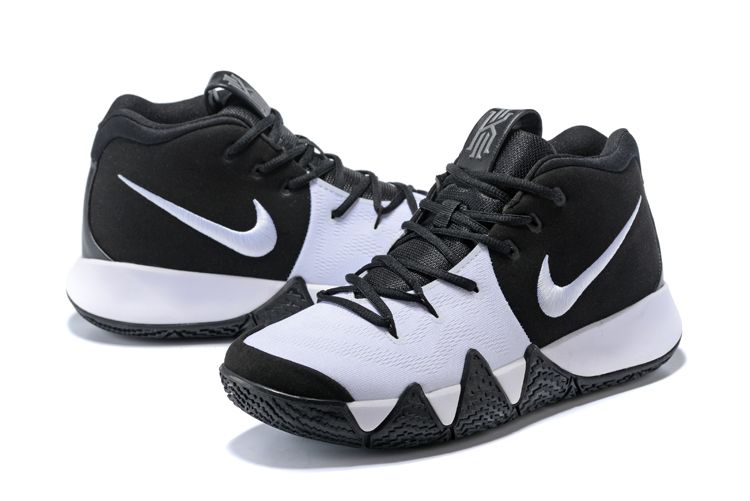 "b587533ae12 2018 Nike Kyrie 4 ""Oreo"" Black White For Sale"