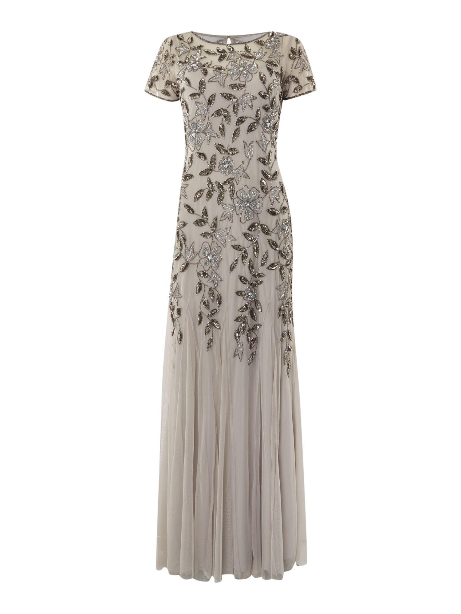 1920s Dresses Uk Flapper Gatsby Downton Abbey Dress Maxi Dress Evening Beaded Dress Long Flapper Dress Uk