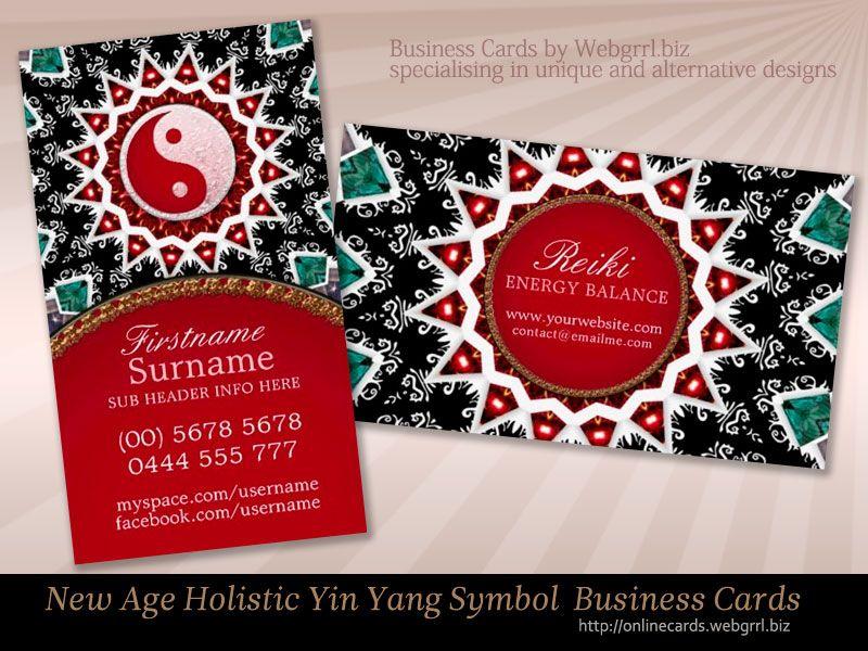 Reiki energy yin yang balance new age business cards yin yang reiki energy yin yang balance new age business cards colourmoves