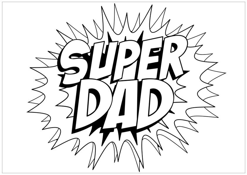 Free Unique and Printable Father's Day Coloring Pages for
