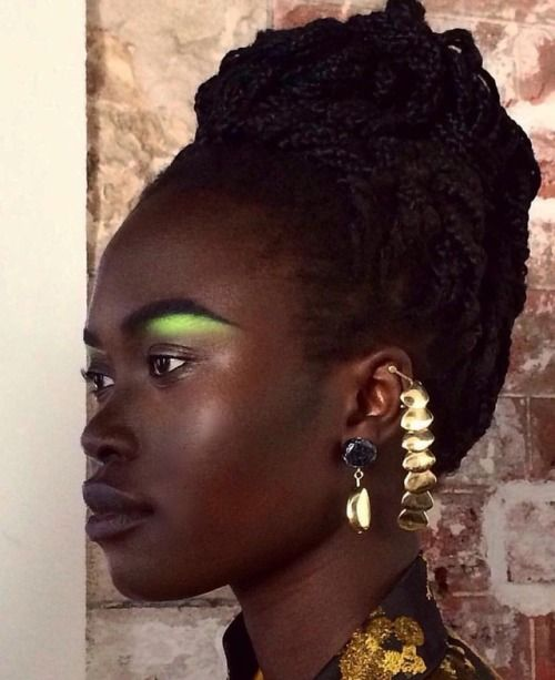Lime Green Highlight Makeup For Green Eyes Hair Beauty