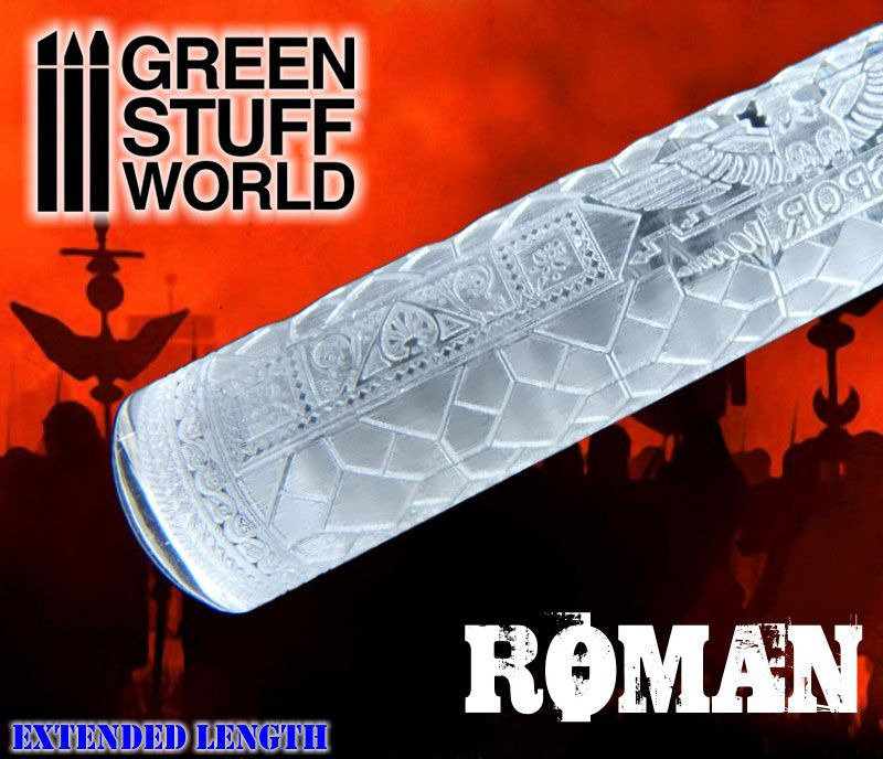 Michigan Toy Soldier Company Green Stuff World International Rolling Pin Roman Rolling Pin Toy Soldiers Repeating Patterns