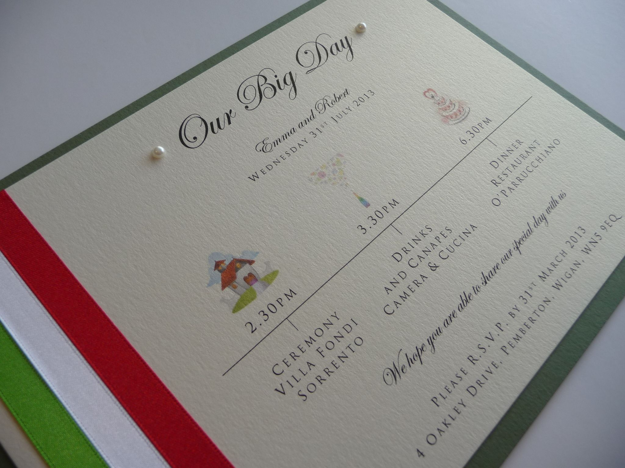 How Big Are Wedding Invitations: Our Big Day Style Wedding Invitations .. Italy Wedding