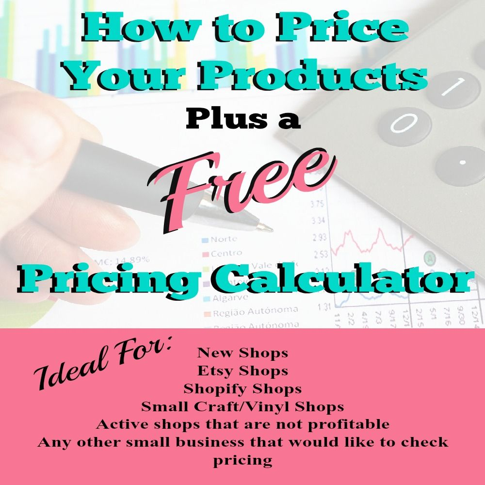 FREE Pricing and Profit Calculator How To Price Your