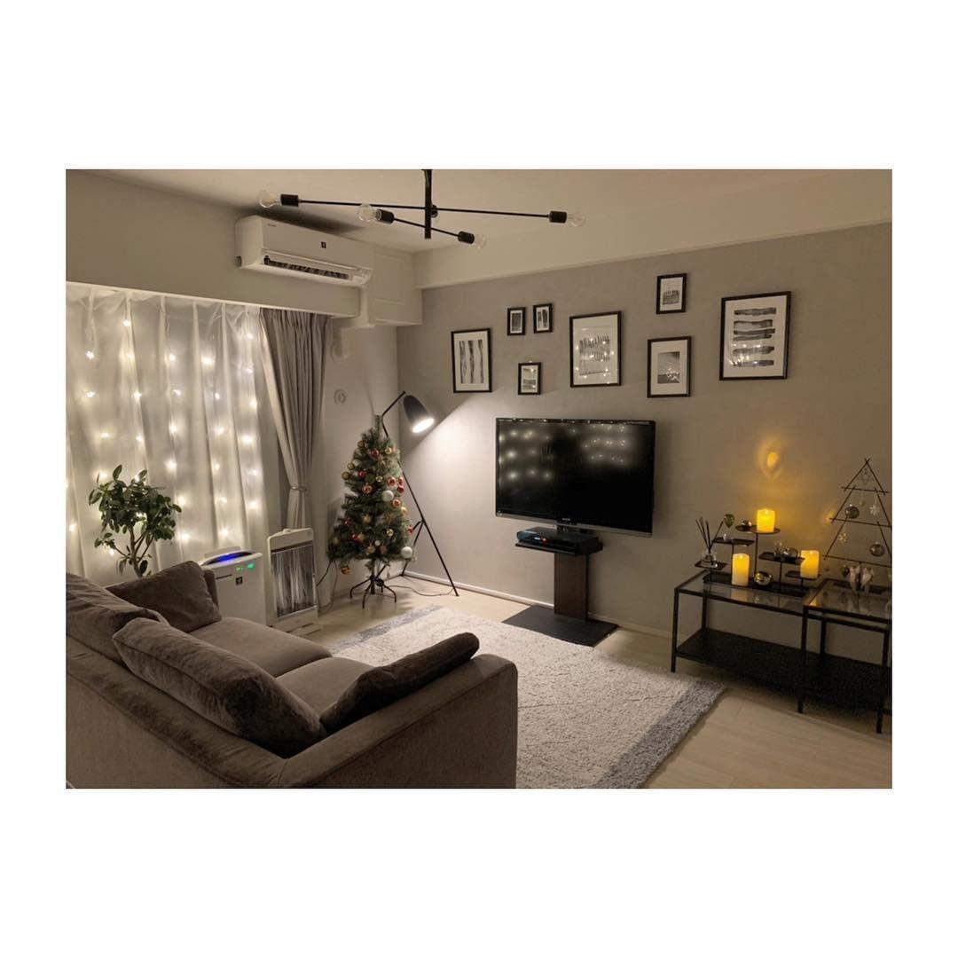 テレビスタンド Wall 公式アカウントさんはinstagramを利用しています メリークリスマス 本日は Mhome 12 さんのクリスマスムードたっぷりの素敵なお部屋をご紹介します 横幅奥行きを取ってしまう大きなテレビ台ではソファの置き場所に困ってしまいませんか