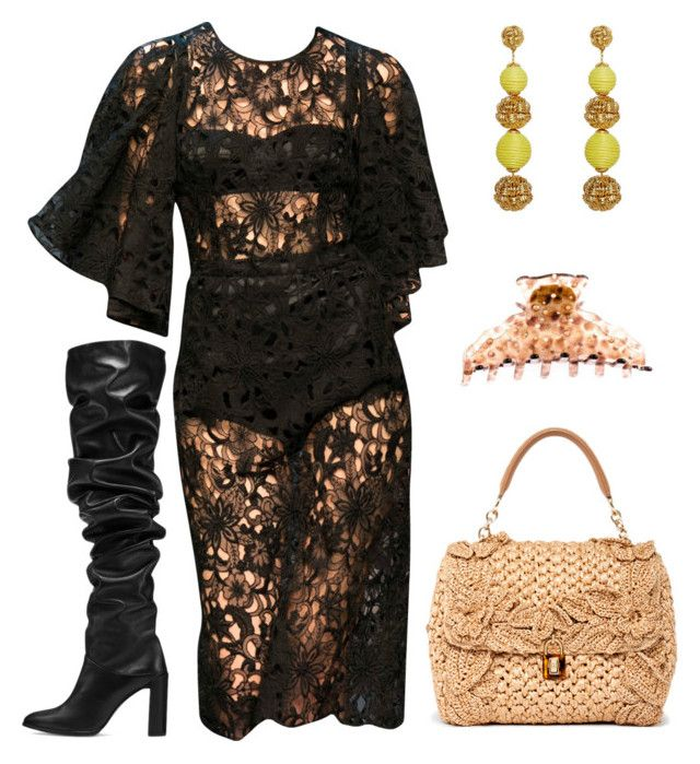 """""""Untitled #7496"""" by amberelb ❤ liked on Polyvore featuring Dolce&Gabbana and Stuart Weitzman"""