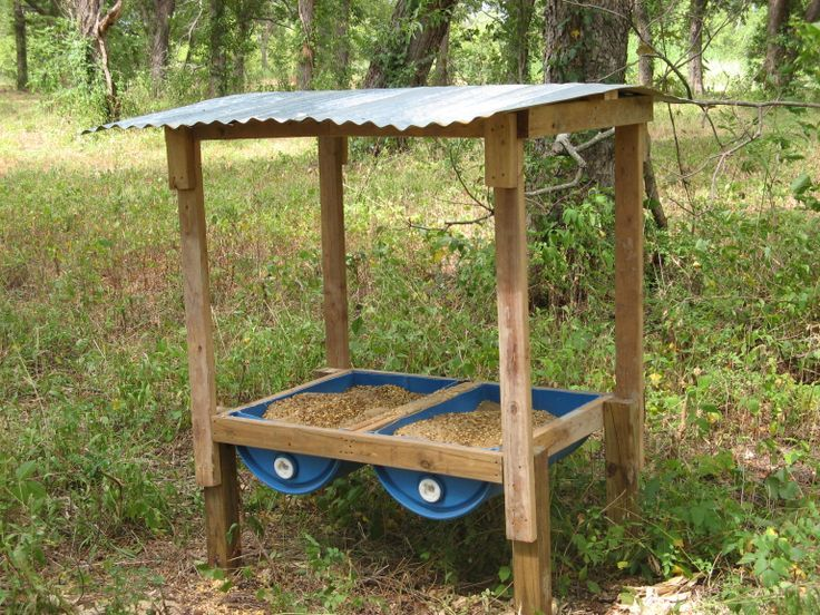 Homemade deer feeders are not difficult to make  Description