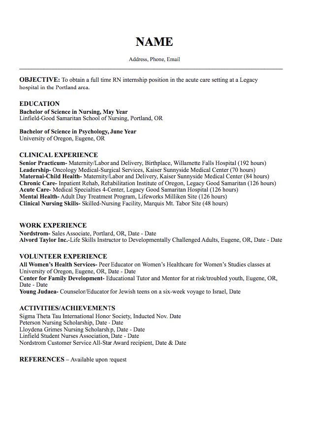 Pin by latifah on Example Resume CV | Nursing resume, Oncology ...
