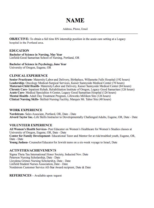 oncology nurse resume sample
