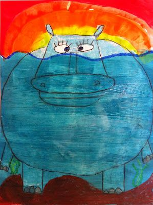 Artisan Des Arts Grade 2 3 Underwater Hippos Class 1 Draw Class
